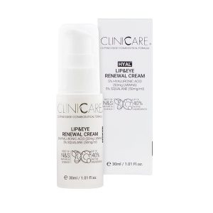 CLINICCARE Hyal + Lip & Eye Renewal Cream 30ml
